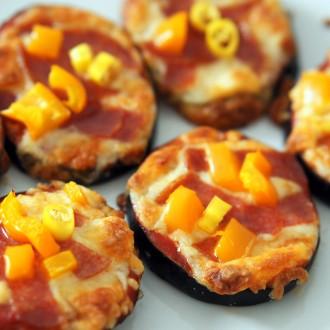 Mini Auberginen-Pizzen