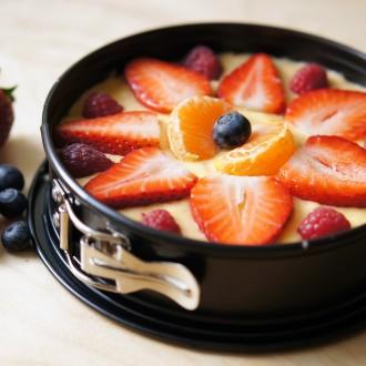Frucht-Törtchen mit Vanille-Puddingcreme